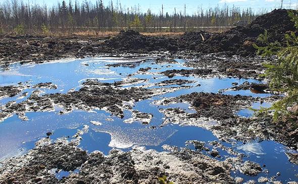 Разлив на Карамовском месторождении Газпромнефть-Ноябрьскнефтегаз