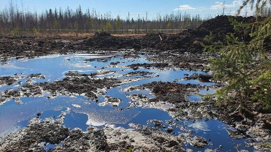 Разлив на Крайнем месторождении АО Газпромнефть-Ноябрьскнефтегаз