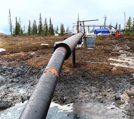 Росприроднадзор оценил площадь разлива на Ошском месторождении ЛУКОЙЛ-Коми примерно в 1,3 га