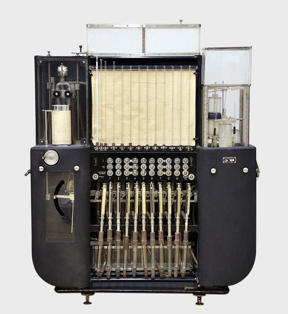 Гидроинтегратор ИГ-3. Общий вид. Произведен в 1955 году на Заводе счетно-аналитических машин (САМ)